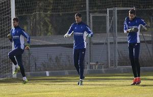Irureta, Saja y Ratón en un entrenamiento.
