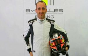 Robert Kubica, con el mono del equipo ByKolles