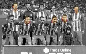 Once del Atlético ante el Celta con cinco canteranos.