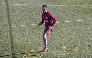 Juanfran durante un entrenamiento