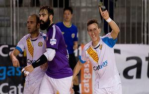 Los jugadores del Catgas Santa Coloma celebran un gol esta temporada.