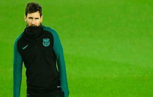 Leo Messi en el último entrenamiento antes del encuentro