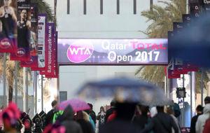 La entrada del recinto de Doha