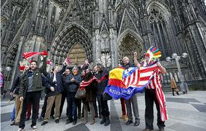 Aficionados del Atlético en Alemania.
