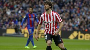 Yeray durante el partido contra el FC Barcelona
