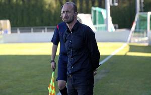 Ángel Cuéllar, durante un partido del Cerceda.