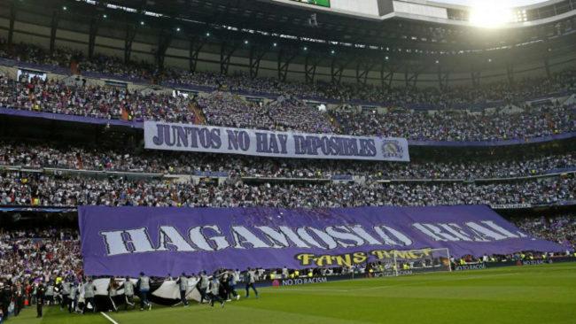 La afici�n del Madrid en el Bernab�u