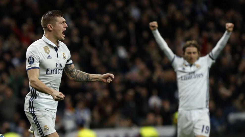 Kroos  celebrando el segundo gol