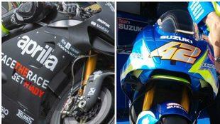 La Aprilia y la Suzuki, en Australia.