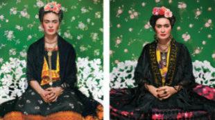Jessica Lange como la pintora mexicana Frida Khalo