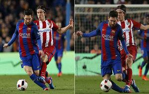 La entrada de Filipe Luisa Messi