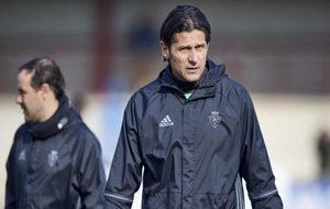 Vasiljevic, durante un entrenamiento con Osasuna