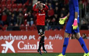 Brandon pide elc ambio durante el partido que disputó el Mallorca...