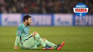 Messi durante el partido contra el PSG