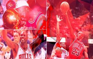 Algunas de las mejores imágenes de la carrera Michael Jordan el día...
