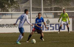 Barbosa encara a portería en el encuentro ante la UD Logroñés.