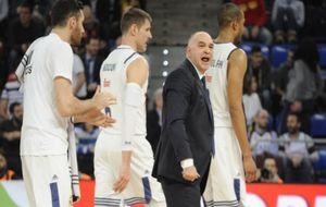 Pablo Laso grita durante el partido ante el MoraBanc Andorra