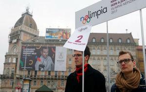 Activistas de Momentum en Budapest.