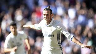 Bale celebra un gol en LaLiga