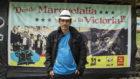 Walter Mendoza, comandante de las FARC, posa para MARCA