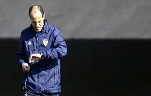 Voro González en una sesión en Paterna.