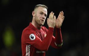 Rooney durante un partido con el Manchester United
