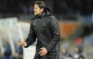Vasiljevic durante el partido en Anoeta.