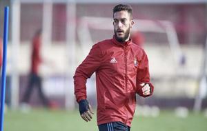 Roberto Torres durante un entrenamiento en las instalaciones de...
