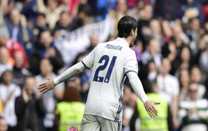 Álvaro Morata celebra el 1-0 ante el Espanyol