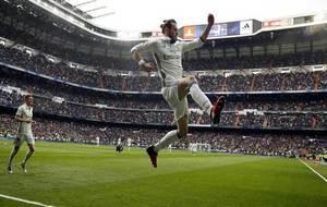 Gareth Bale, celebrando el gol ante el Espanyol.