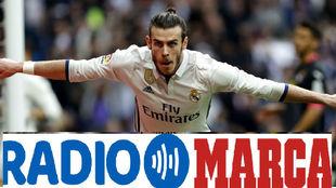Gareth Bale celebra su gol tras volver de lesión