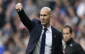 Zinedine Zidane durante el partido ante el Espanyol