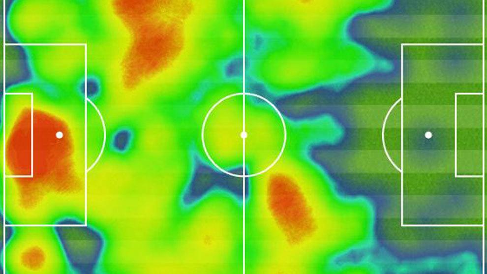 Espanyol: El mapa de calor saca los colores al Espanyol: ¡No pisó el ...