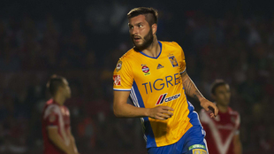 Gignac, celebrando su gol ante Veracruz.