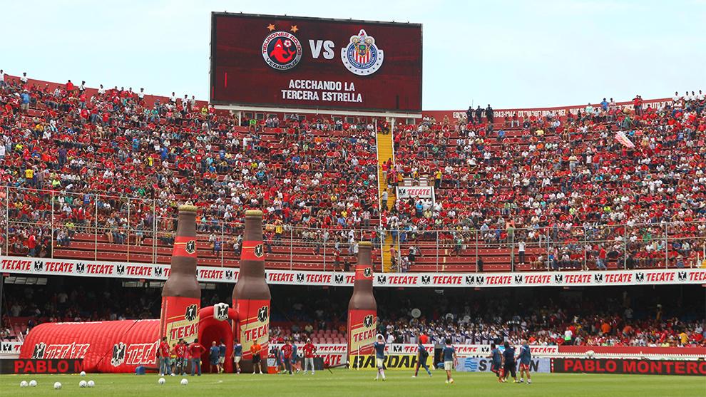 Panorámica del 'Pirata' Fuente durante el partido ante Chivas en...