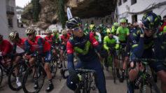 Alejandro Valverde antes de tomar la salida en la última etapa.