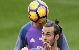 Bale, durante un entrenamiento