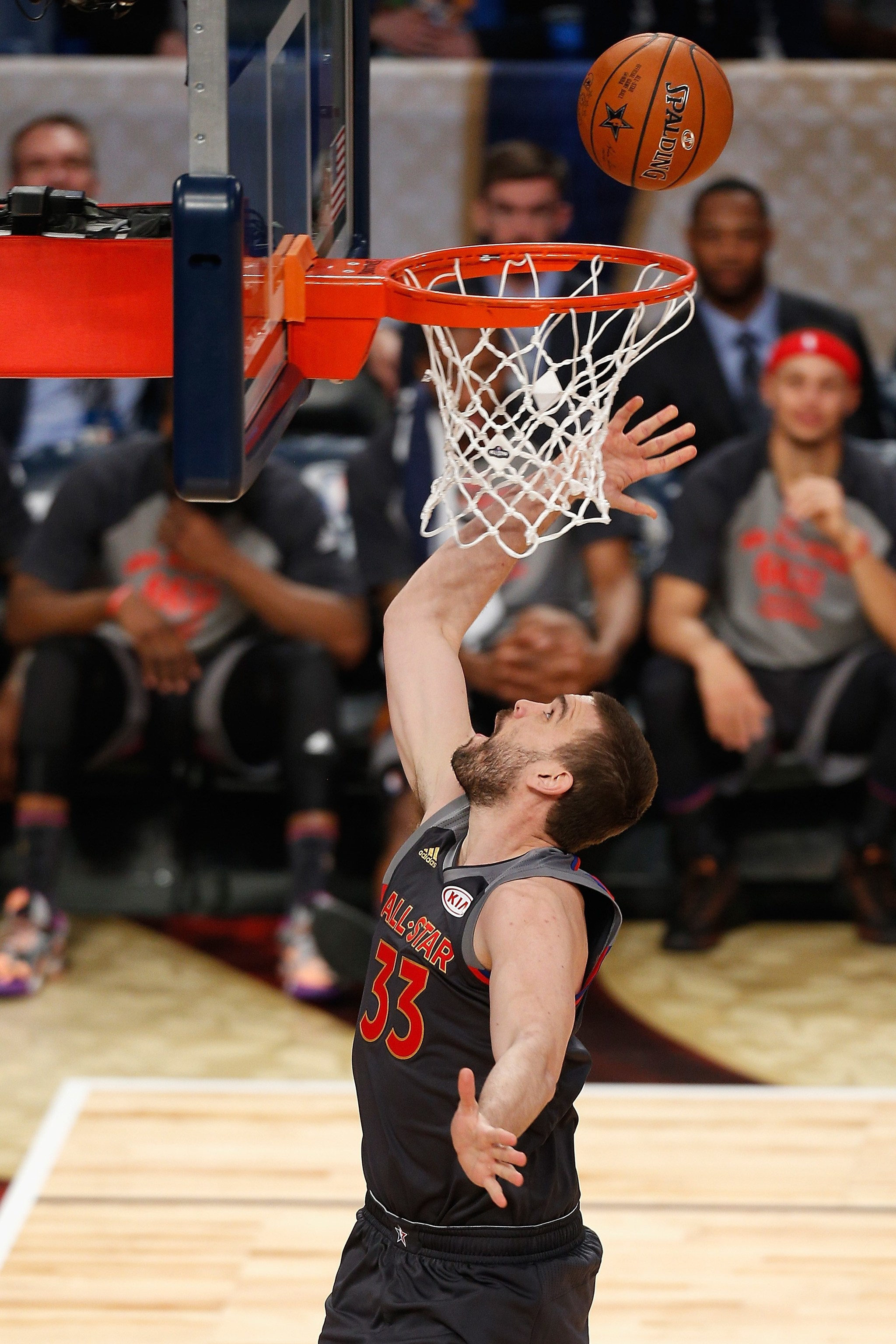 Marc Gasol anotando al contraataque en el All Star NBA