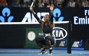 Serena Williams celebra la victoria en el Abierto de Australia