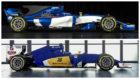 El Sauber C36-Ferrari de 2017 y el Sauber C35-Ferrari de 2016 vistos...