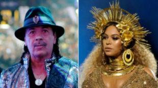 Carlos Santana y Beyoncé en 2003