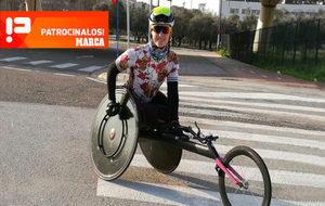 Eva Moral, en la imagen con su handbike