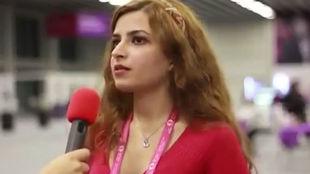 Dorsa Derakhshani, en un torneo de ajedrez.