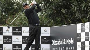 José María Olazábal durante el torneo benéfico que tiene su...