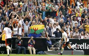 Mestalla celebra un gol del Valencia.