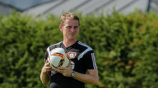 Luthardt durante un entrenamiento del Bayer