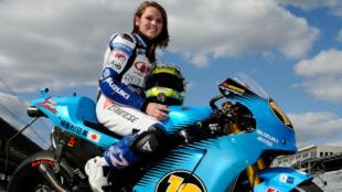 Elena Myers, en 2011 con la Suzuki.