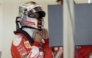 Vettel, en el GP de Abu Dabi 2016, donde fue tercero