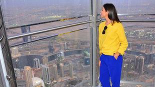 Muguruza, en lo alto del Burj Khalifa