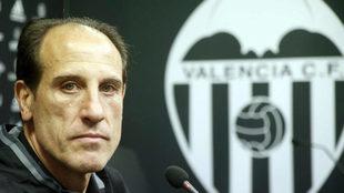 Voro (52) antes de la rueda de prensa en Paterna.